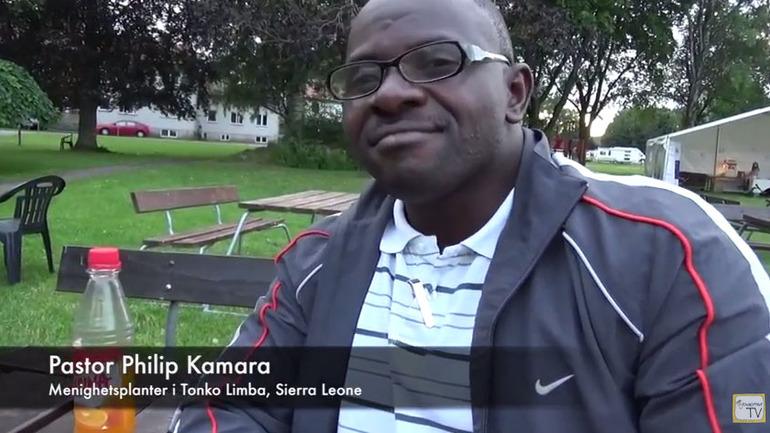 Philip Kamara leder menighetsplantings-prosjeket i Sierra Leone som støttes av Skien baptistmenighet.