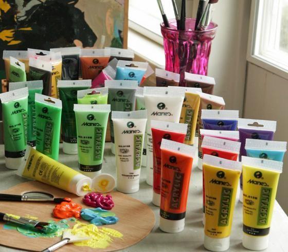 Er du glad i å male, eller har du lyst til å lære? Nå har du mellom 10 og 16 år en gylden mulighet torsdag 2. og 16. mars, kl. 17-18!