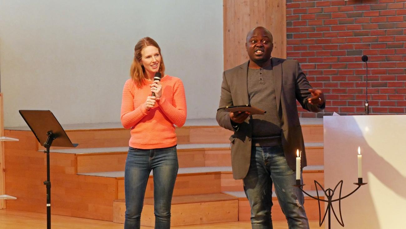 Gabriel Stephen talte inspirert på gudstjenesten.