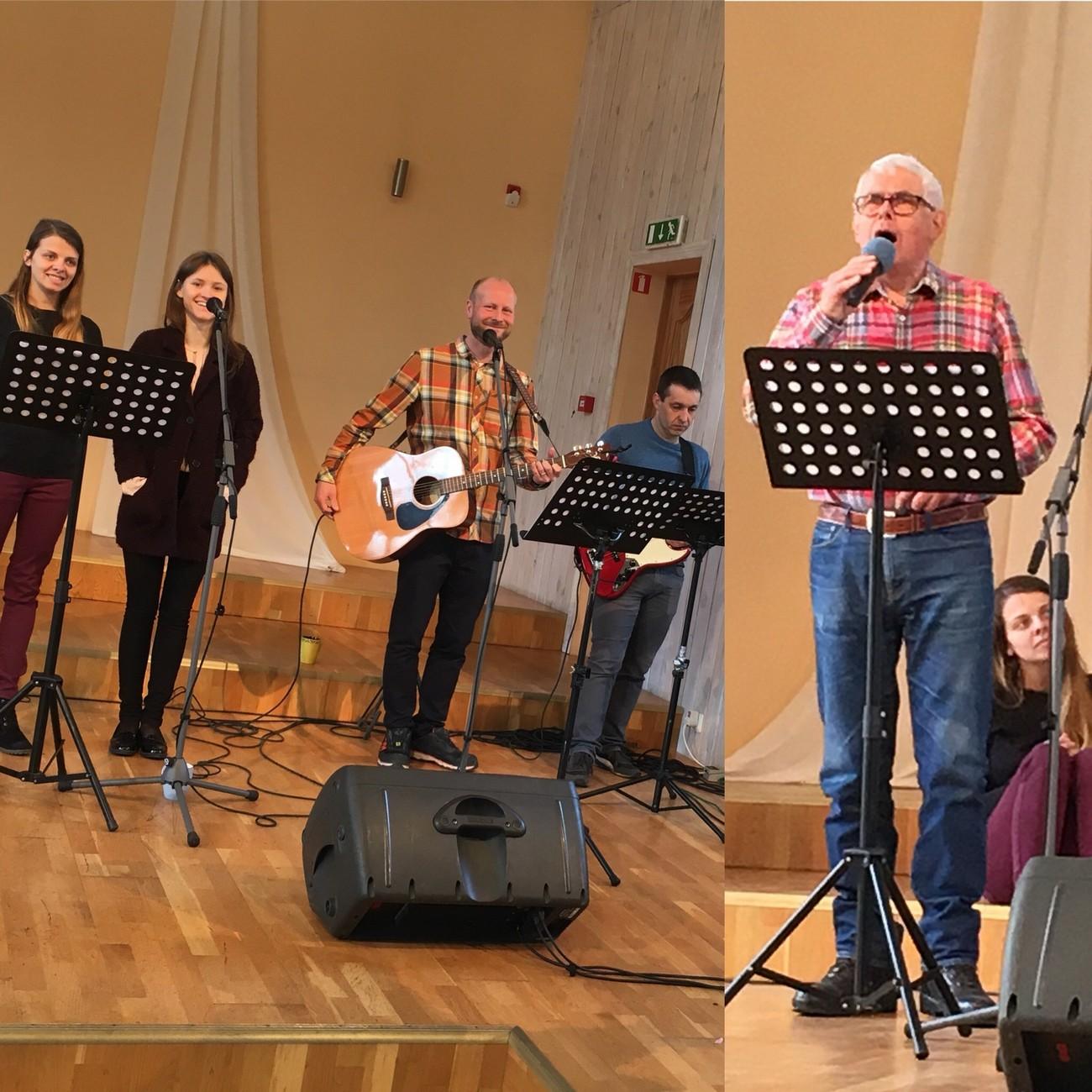 Gudtjeneste i Ogre baptistkirke