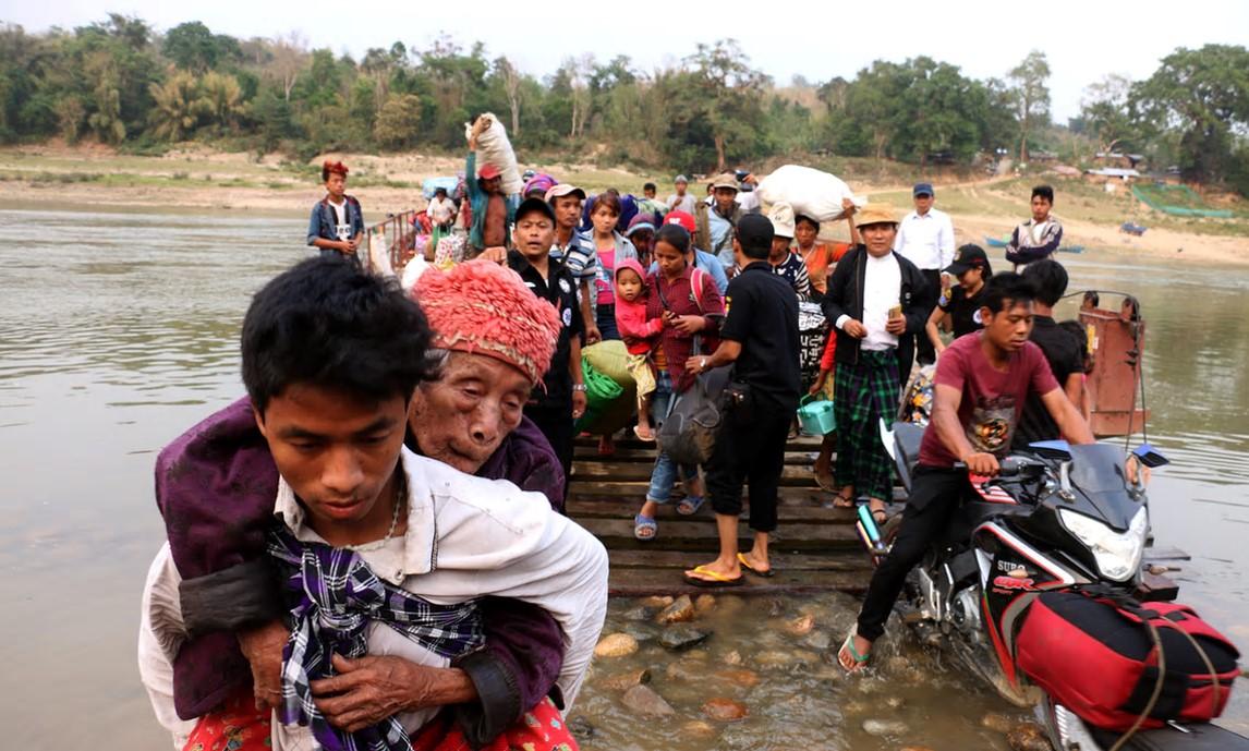 Innsamlingsaksjon til den nordligste provinsen i Myanmar.