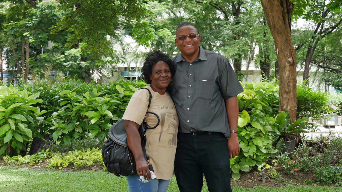 Sanna og Paul Msiza