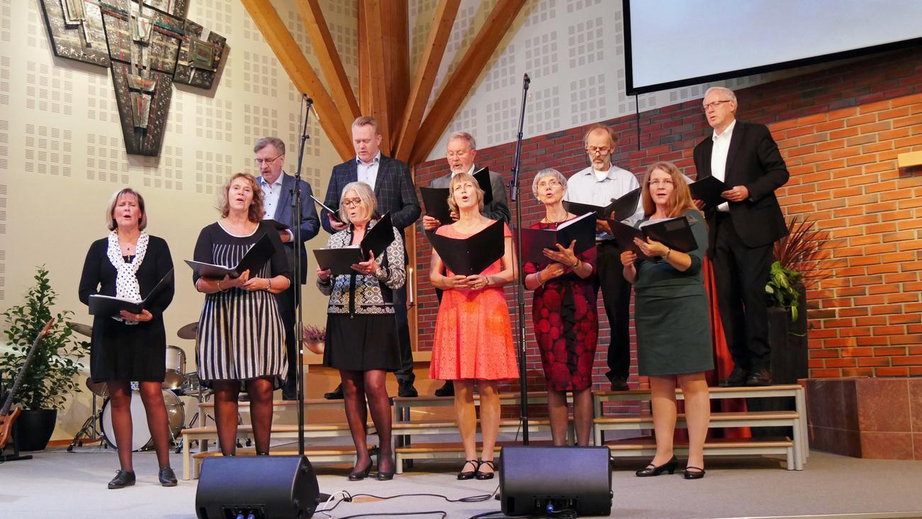 Menighetskoret fra Bærum baptistmenighet.