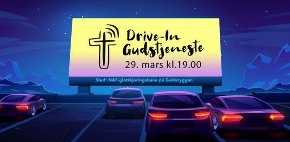 Drive in gudstjeneste 29. mars