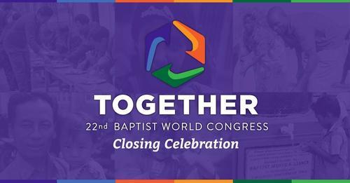 Baptister fra hele verden deltar.