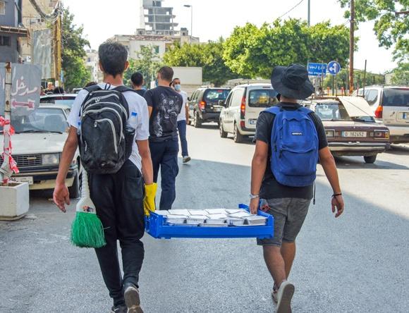 Utdeling av mat i Libanon